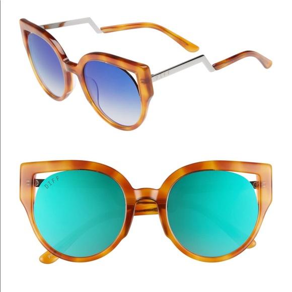 Diff Eyewear Accessories - Penny Sunglasses by Diff Eyewear in Honey Tort